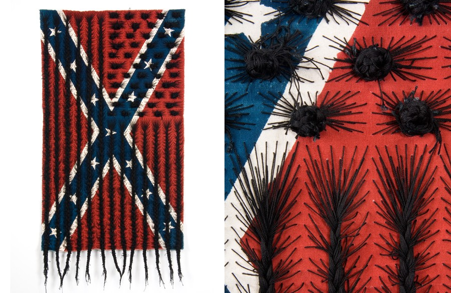 black hair flag (detail)